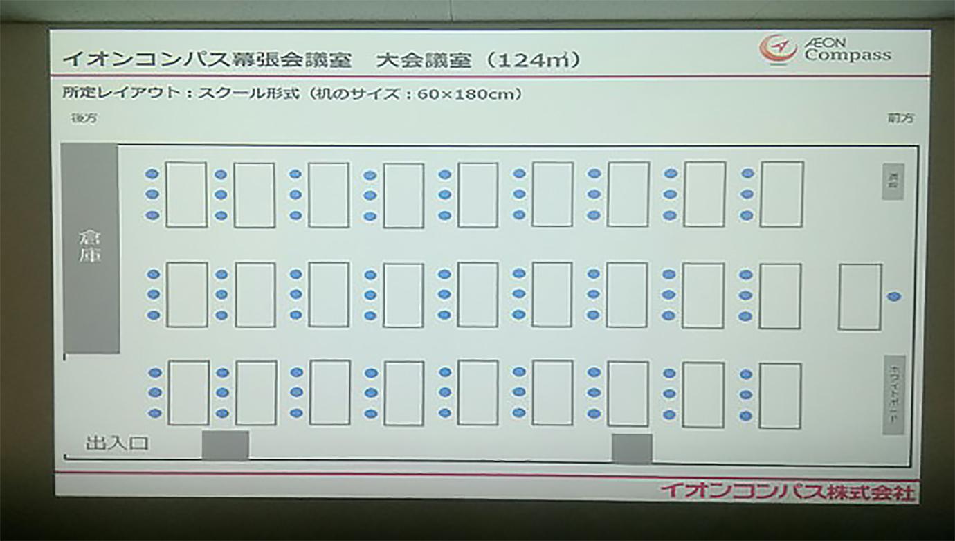 旧幕張大会議室プロジェクター映像